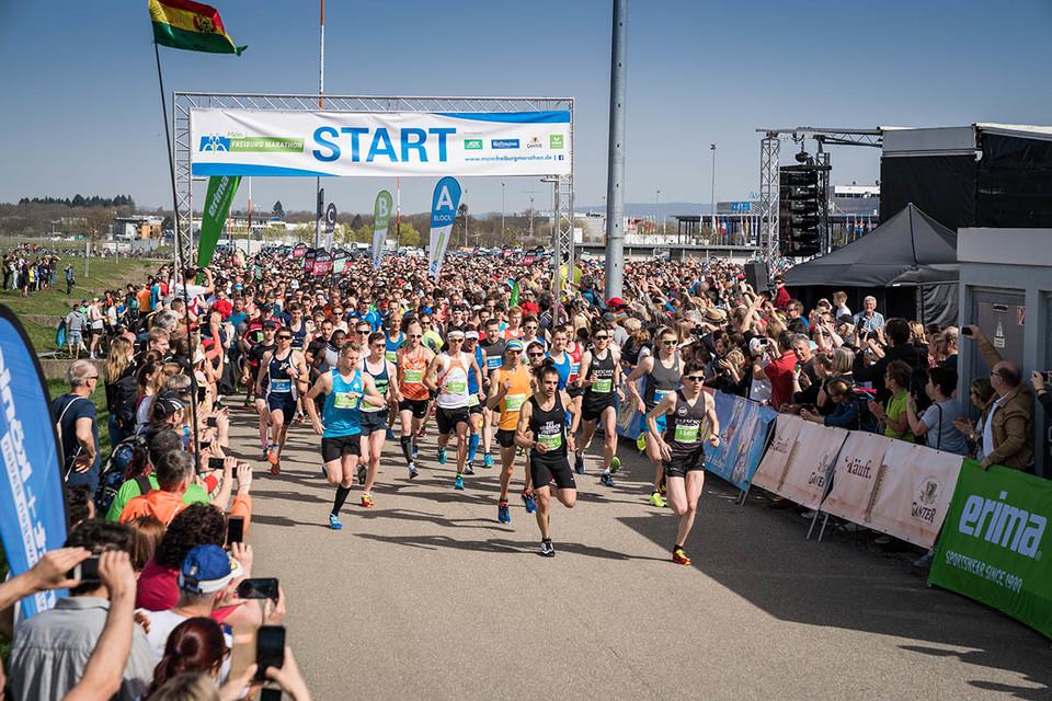 Startschuss bei Marathon