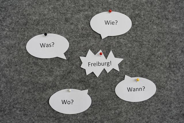 Board mit W-Fragen