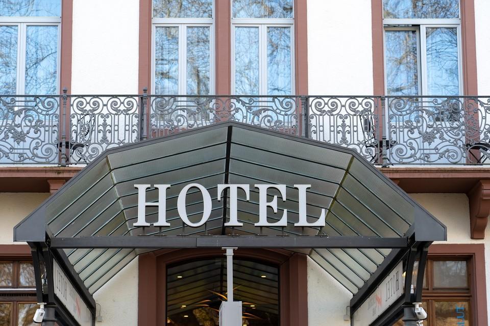 Eingang von Hotel