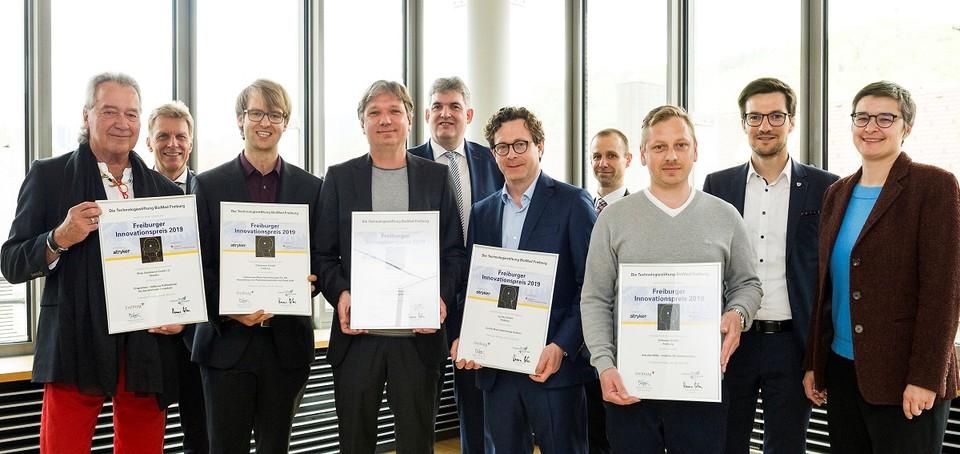 Preisträger und Preisträgerinnen des Freiburger Innovationspreises 2019