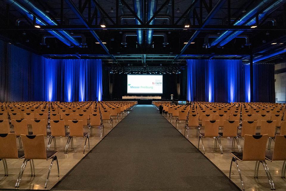 Sick Arena Messe Freiburg bestuhlt