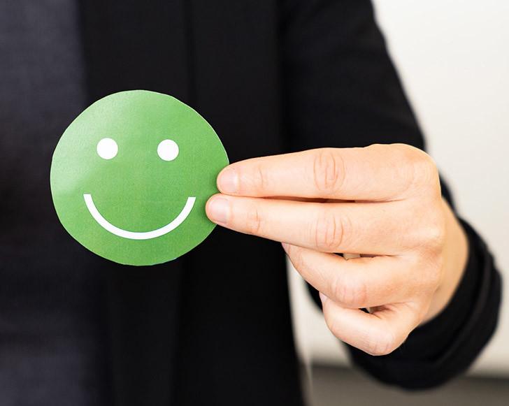 Grüner Smiley